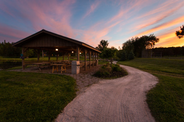 Sunset at Upper Canada Camp near Toronto, a centre for Christian Group Retreats